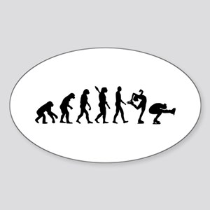 Evolution Figure skating Sticker (Oval)